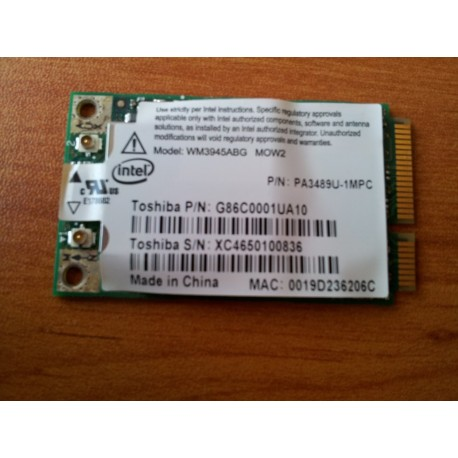 Toshiba Equium A100 WiFi Wieless Card G86C0001UA10